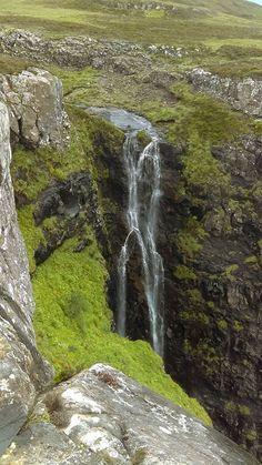 Waterfall on the Isle of Eigg, Scotland.