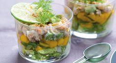 Recette de verrine de crevettes et mangue marinée au basilic