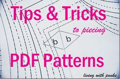 Tips and Tricks to Assemble PDF Patterns