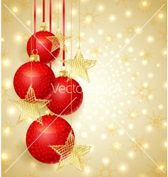Christmas background vector - by odina222 on VectorStock®