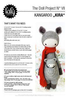 """Häkelanleitungen - HÄKELANLEITUNG Puppe """"KIRA das Känguru&quo... - ein Designerstück von lalylala bei DaWanda"""