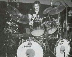 Vinnie Colaiuta with Frank Zappa, circa 1979-1980.