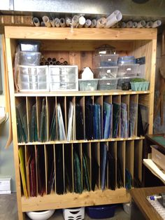 """~The """"Glass Dungeon"""" ~ Stained glass storage area."""