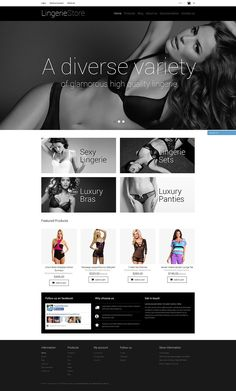18+ Beautiful Ladies Fashion, Clothing & Accessories Shopify Themes - Lingerie Shop
