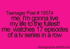 "i feel  like these ""teenager posts"" are way more accurate for ""20-somethings"""