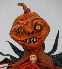 Handmade OOAK Halloween Jack B. Nimble Pumpkin Man by Cre8orsTouch, $125.00