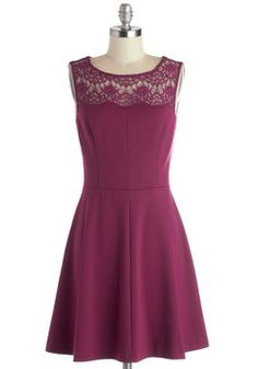 Conifer What It's Worth Dress in Fuchsia, #ModCloth spring 2014