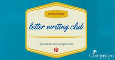 Top 5 Pinterest Ideas for Letter Writing - which pins have inspired you to write to your sponsored child?