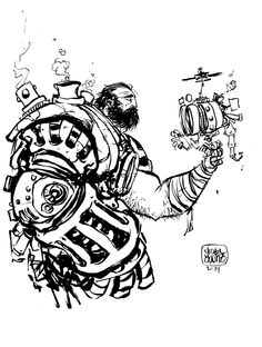 #DailySketch Cole from Steampunk. Original sketch available in my shop http://skottieyoungstore.bigcartel.com