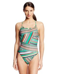 1caa9ba811 Speedo Women s Rainbow Stripe Flyback... Suits For Sale