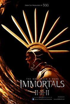 Immortals...Very good movie.  The fight scenes are great.  I saw it in the movie theater in 3D.  Grat movie to watch bluray or 3D