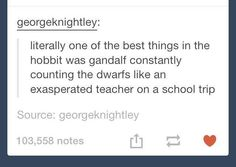 Becky is Gandalf<- thank you Thorin xx