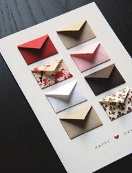 Anniversary Card Idea: one mini envelope for each year together to write a favorite memory from that year