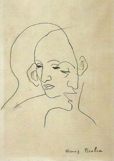 Double Profile, Francis Picabia - Transparence - 1930, Line Drawing, fine art.