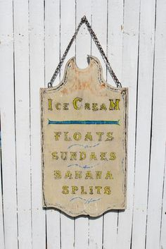 Ice Cream Shop Soda Fountain Antique Trade Sign Vintage Carnival Art $32.99