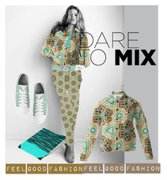 """""""Dare to Mix'"""" by marijkeverkerkdesign ❤ liked on Polyvore"""