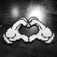Heart hands perler beads by miss_harley_toyou