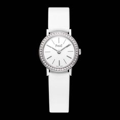 The elegant @piagetbrand Altiplano #ladieswatch in #whitegold is a dainty 24mm in diameter and just 5.44mm thick #piaget #luxurywatch #christmasgifts  See more at www.thejewelleryeditor.com
