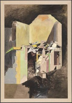 Artwork page for 'Devastation, A House on the Welsh Border', Graham Sutherland OM, 1940 National Museum Of Wales, Tate Gallery, Art Terms, English Artists, Painting & Drawing, Giclee Print, Modern Art, Abstract Art, Welsh