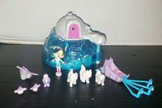 2000 Polly Pocket Blue Igloo House Playset Arctic Ice Figures Dogs Penguins Sled in Dolls & Bears, Dolls, By Brand, Company, Character | eBay