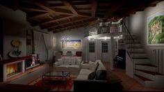 Progetto renderin MANAO ARREDA Loft, Bed, Furniture, Home Decor, Italia, Decoration Home, Stream Bed, Room Decor, Lofts