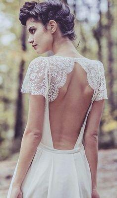 Laure de Sagazan Backless Wedding Dress