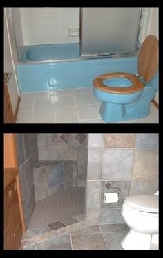 Wonderful ≈A door-less walk in shower that can be done in small spaces – our house must have a walk in shower! The post ≈A door-less walk in shower that can be done in small spaces – our house m… appeared first on 99 Decor . Diy Casa, Bathroom Renos, Downstairs Bathroom, Shower Bathroom, Master Shower, Bathroom Stuff, Small Bathroom Showers, Small Rustic Bathrooms, Shower Doors