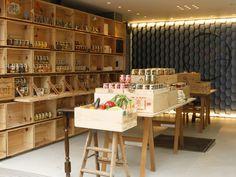 鎌倉野菜工房 Display Design, Booth Design, Store Design, Vegetable Shop, Kamakura, Exhibition Display, Retail Space, Visual Merchandising, Wall Shelves