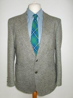 "Vintage mens jacket blazer DonegalTweed Blazer Jacketfor Wellington Executive Size 42"" chest Short by BidandBertVintage on Etsy"