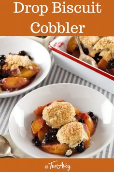 Drop Biscuit Cobbler Recipe Kelly Jaggers shares her family recipe for a delicious fruit cobbler with a lightly sweetened buttermilk drop biscuit topping Timetested fami. Fruit Cobbler, Cobbler Recipe, Delicious Fruit, Yummy Food, Buttermilk Drop Biscuits, Kosher Recipes, Brownie, Retro Recipes, Time Tested