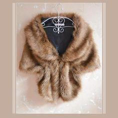 Sable Mink Faux Fur Stole