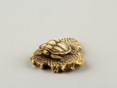 Netsuke of Turtle Crawling over a Rock, 19th century. Japan. The Metropolitan Museum of Art, New York. Gift of Alvin H. Schechter, 1985 (1985.399.3)