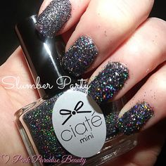 Day 15 of the Ciate #minimanimanor Nail Glitter in Slumber Party