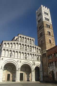 One of the beautiful churches in Lucca, Italy.
