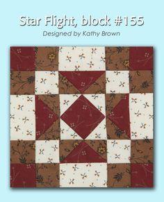 100 Blocks Sampler Sew Along Block 38: Star Flight designed by Kathy Brown #100BlocksSampler