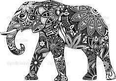 Baixar - O elefante alegre — Ilustração de Stock #25019803