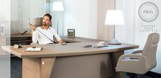 Luxury Italian desk iSixty by Codutti, design Stefano Codutti