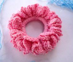crochet hair scrunchie free pattern