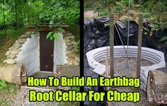 How To Build An Earthbag Root Cellar For Cheap - SHTF, Emergency Preparedness, Survival Prepping, Homesteading . with round door- hobbit house Homestead Survival, Survival Food, Survival Prepping, Emergency Preparedness, Survival Skills, Survival Hacks, Emergency Planning, Survival Supplies, Wilderness Survival