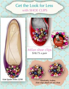 72c448c9bbbdf8 Get the look for less with Absolutely Audrey Shoe Clips .www.eurekalifestyle.com