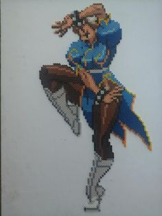 Chun Li Street Fighter perler sprite by Sulley45635 on deviantART