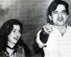 Madhubala with Dilip Kumar- Real life photo