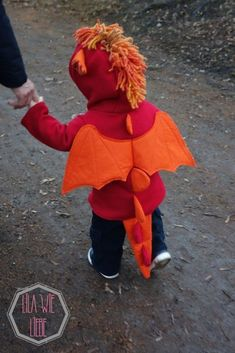 Drachenkostüm für Kinder selbst nähen - lila wie liebe -