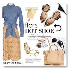 """""""Flats - New Trend"""" by stylemeup-649 ❤ liked on Polyvore featuring Lanvin, MSGM, Whiteley, CO, Nina Ricci, J.Crew, Juicy Couture, Tory Burch, White Ice and women's clothing"""