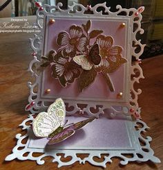 Butterflies and Dogwood Easel Card