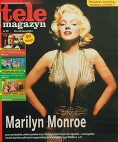 Tele Magazyn - July 18th 2014, magazine from Poland. Front cover photo of Marilyn Monroe by Gene Kornman, 1953.
