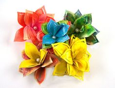 Jill Foster's paper flowers made with Helmar and Design Memory Craft.