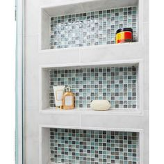 nice shelf idea - find out what tile this is--could go in master?