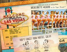 Bachelorette Party in Las Vegas vintage retro by HydraulicGraphix, $36.50