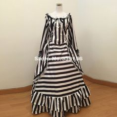 This item is HOT! Brand New Black A... click 2 order  http://i-saledresses.myshopify.com/products/brand-new-black-and-white-striped-civil-war-gothic-victorian-steampunk-dress-southern-bell-bustle-ball-gown-for-party-plus-size?utm_campaign=social_autopilot&utm_source=pin&utm_medium=pin   We Ship Internationally!